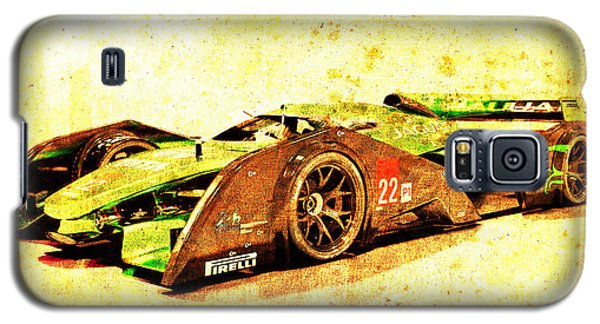 Sport Art Galaxy S5 Case - Jaguar Le Mans 2015, Race Car, Fast Car, Gift For Men by Drawspots Illustrations