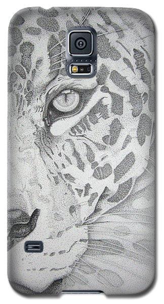 Jaguar Pointillism Galaxy S5 Case by Mayhem Mediums