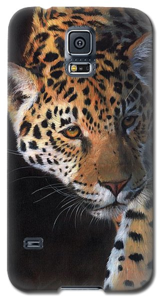 Galaxy S5 Case featuring the painting Jaguar Portrait by David Stribbling