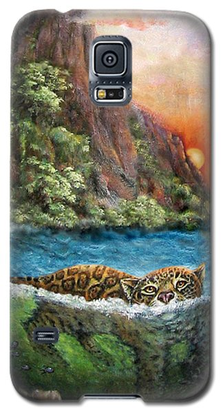 Jaguar Sunset  Galaxy S5 Case