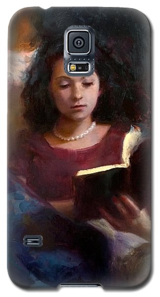 Jaidyn Reading A Book 1 - Portrait Of Young Woman - Girls Who Read - Books In Art Galaxy S5 Case