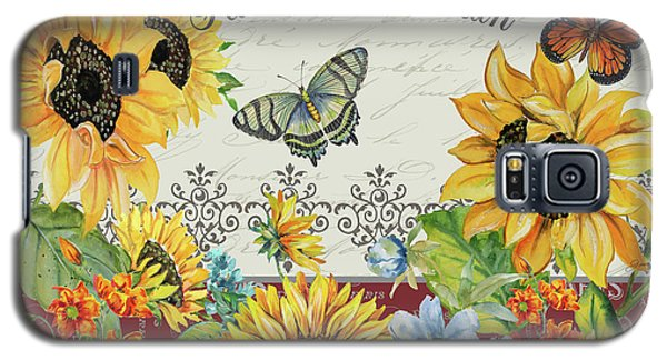 Galaxy S5 Case featuring the painting Jaime Mon Jardin-jp3990 by Jean Plout