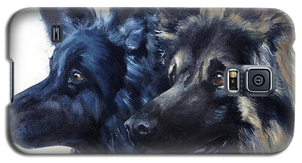 Galaxy S5 Case featuring the painting Jake And Shiloh by Diane Daigle