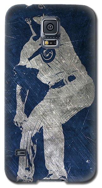Jake Arrieta Chicago Cubs Art Galaxy S5 Case by Joe Hamilton