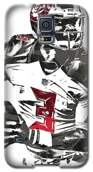 Galaxy S5 Case featuring the mixed media Jameis Winston Tampa Bay Buccaneers Pixel Art by Joe Hamilton