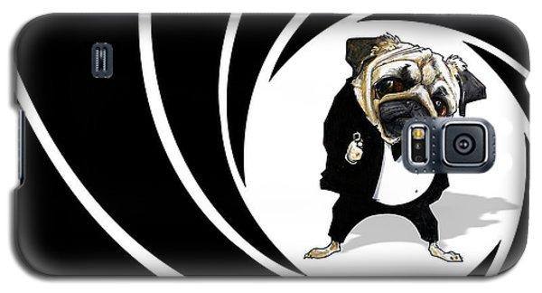 James Bond Pug Caricature Art Print Galaxy S5 Case