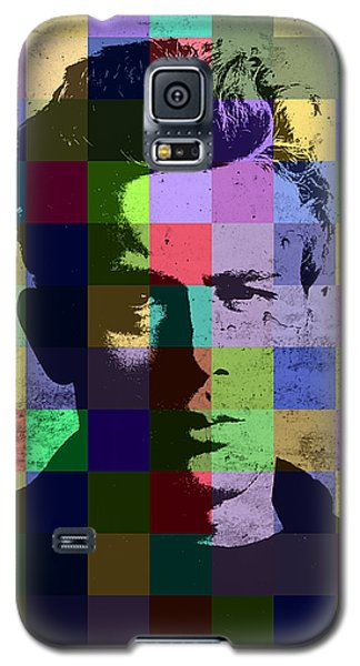 James Dean Actor Hollywood Pop Art Patchwork Portrait Pop Of Color Galaxy S5 Case by Design Turnpike