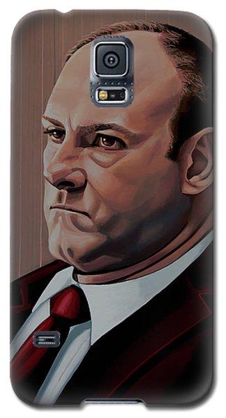 James Gandolfini Painting Galaxy S5 Case by Paul Meijering