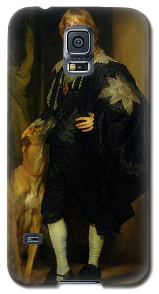 Galaxy S5 Case featuring the painting James Stuart - Duke Of Richmond And Lennox                       by Anthony Van Dyck