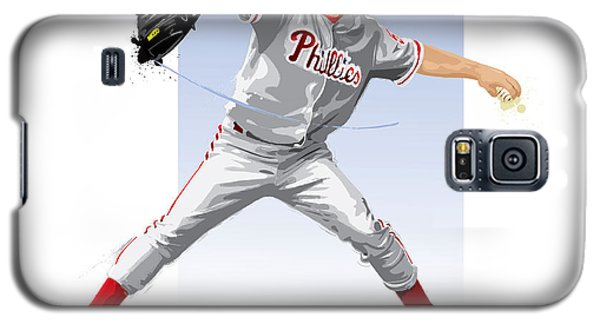 Galaxy S5 Case featuring the digital art Jamie Moyer by Scott Weigner