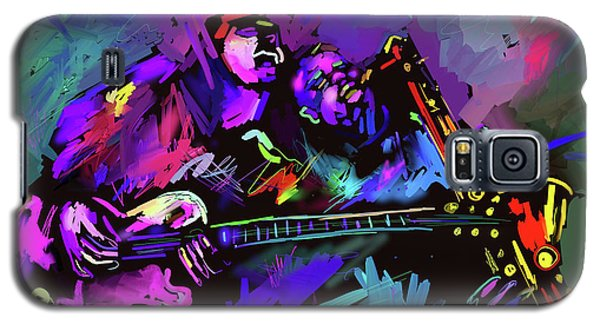 Galaxy S5 Case featuring the painting Jammin' The Funk by DC Langer