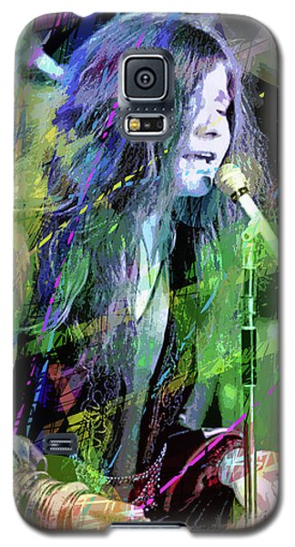 Janis Joplin Blue Galaxy S5 Case