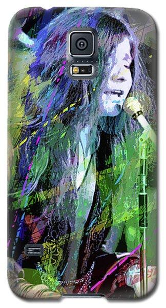 Janis Joplin Blue Galaxy S5 Case