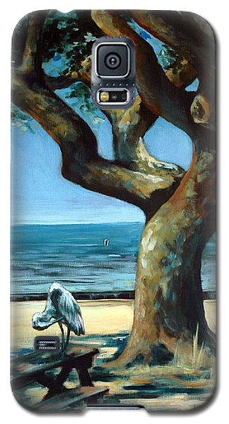 Galaxy S5 Case featuring the painting January Afternoon by Suzanne McKee