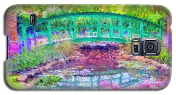 Galaxy S5 Case featuring the digital art Japanese Footbridge At Phipps Conservatory 2 by Digital Photographic Arts