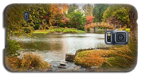 Japanese Garden Bridge Fall Galaxy S5 Case