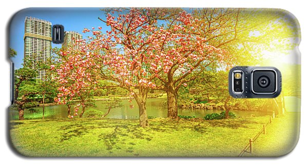 Japanese Garden Cherry Blossom Galaxy S5 Case