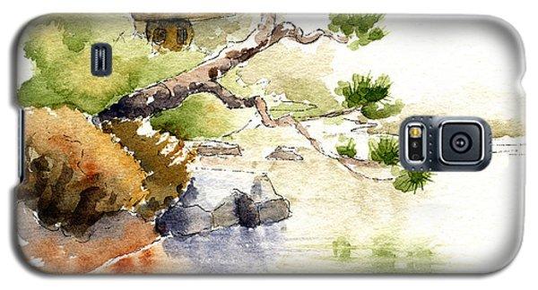 Japanese Garden Pond Sketch Galaxy S5 Case