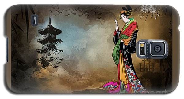 Japanese Girl With A Landscape In The Background. Galaxy S5 Case