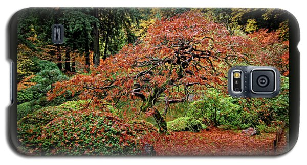 Galaxy S5 Case featuring the photograph Japanese Maple At The Japanese Gardens Portland by Thom Zehrfeld