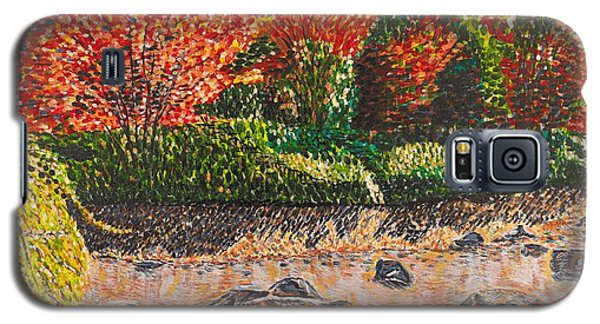 Japanese Maple Trees At The Creek Galaxy S5 Case by Valerie Ornstein