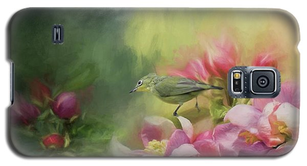 Japanese White-eye On A Blooming Tree Galaxy S5 Case
