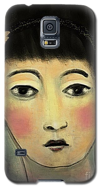 Galaxy S5 Case featuring the digital art Japanese Woman With Butterflies by Alexis Rotella