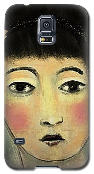 Japanese Woman With Butterflies Galaxy S5 Case