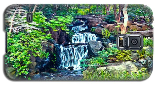 Galaxy S5 Case featuring the photograph Japanese Waterfall Garden by Scott Carruthers