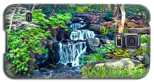 Japanese Waterfall Garden Galaxy S5 Case by Scott Carruthers