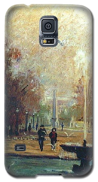 Galaxy S5 Case featuring the painting Jardin Des Tuileries by Walter Casaravilla