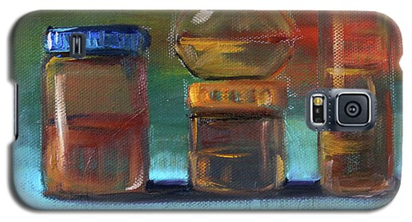 Galaxy S5 Case featuring the painting Jars Still Life Painting by Nancy Merkle