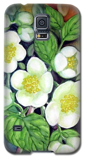 Galaxy S5 Case featuring the painting Jasmine Fantasy by Inese Poga