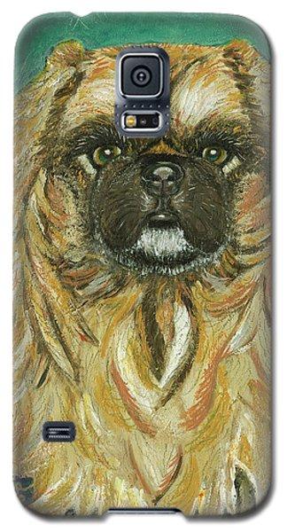 Galaxy S5 Case featuring the painting Jasmine The Pekingese Princess by Ania M Milo