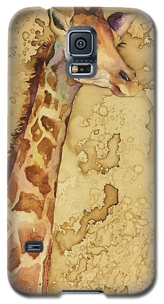 Galaxy S5 Case featuring the painting Java Giraffe by Christy Freeman