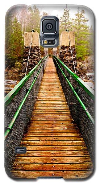 Jay Cooke Swinging Bridge In Fog Galaxy S5 Case