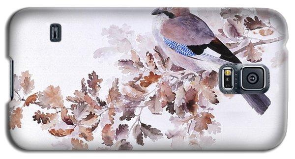 Jay On A Dried Oak Branch Galaxy S5 Case