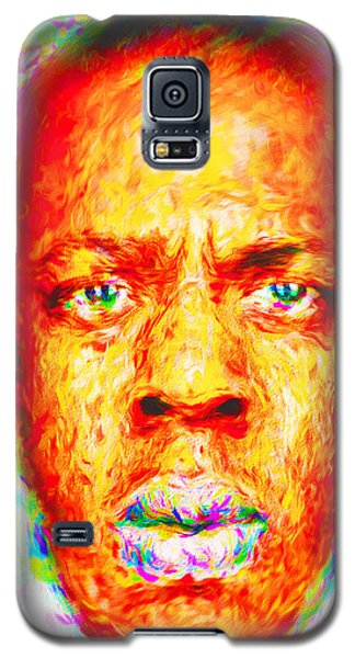 Jay-z Shawn Carter Digitally Painted Galaxy S5 Case by David Haskett