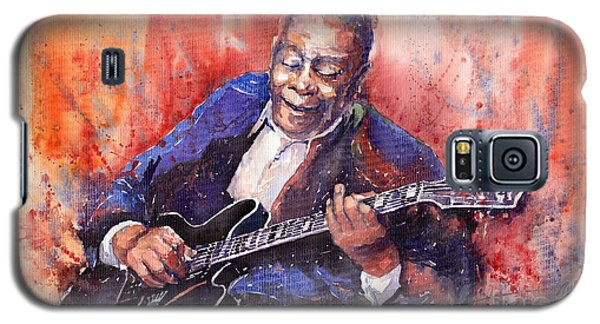 Music Galaxy S5 Case - Jazz B B King 06 A by Yuriy Shevchuk