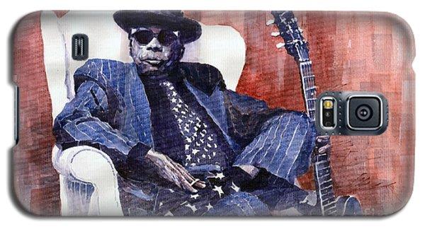 Portret Galaxy S5 Case - Jazz Bluesman John Lee Hooker 02 by Yuriy Shevchuk