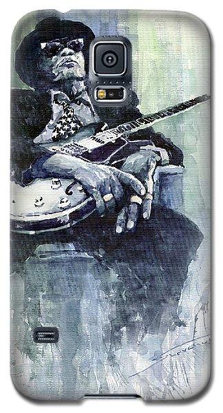 Portret Galaxy S5 Case - Jazz Bluesman John Lee Hooker 04 by Yuriy Shevchuk