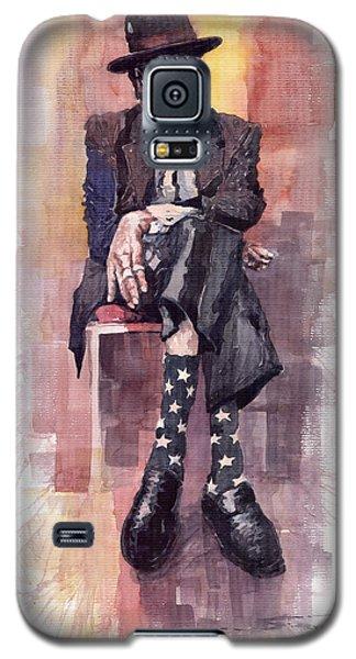 Portret Galaxy S5 Case - Jazz Bluesman John Lee Hooker by Yuriy Shevchuk