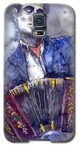 Jazz Galaxy S5 Case - Jazz Concertina Player by Yuriy Shevchuk