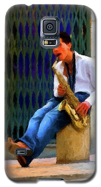 Galaxy S5 Case featuring the photograph Jazz In The Street by David Dehner