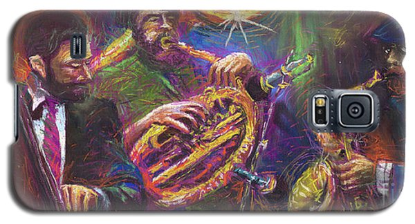 Jazz Jazzband Trio Galaxy S5 Case by Yuriy  Shevchuk