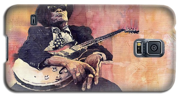 Portret Galaxy S5 Case - Jazz John Lee Hooker by Yuriy Shevchuk