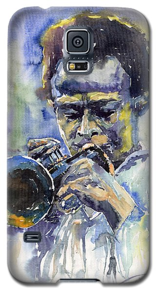 Music Galaxy S5 Case - Jazz Miles Davis 12 by Yuriy Shevchuk