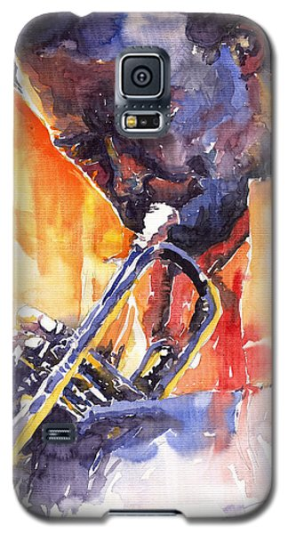 Jazz Miles Davis 9 Red Galaxy S5 Case by Yuriy  Shevchuk