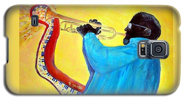 Jazzy Trumpet Player Galaxy S5 Case