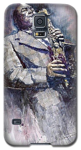 Portret Galaxy S5 Case - Jazz Saxophonist Charlie Parker by Yuriy Shevchuk
